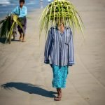 Locals hawkers sell their wares Ngwe Saung