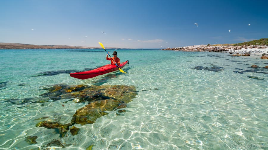 Perfect for paddling, Lipson's tiny offshore island. Image Credit - David Bristow